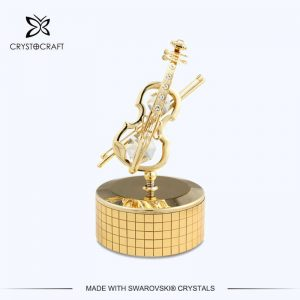 Crystocraft 水晶 玫瑰 钢琴 天鹅 小提琴 音乐盒  教师节 ebzasia.com