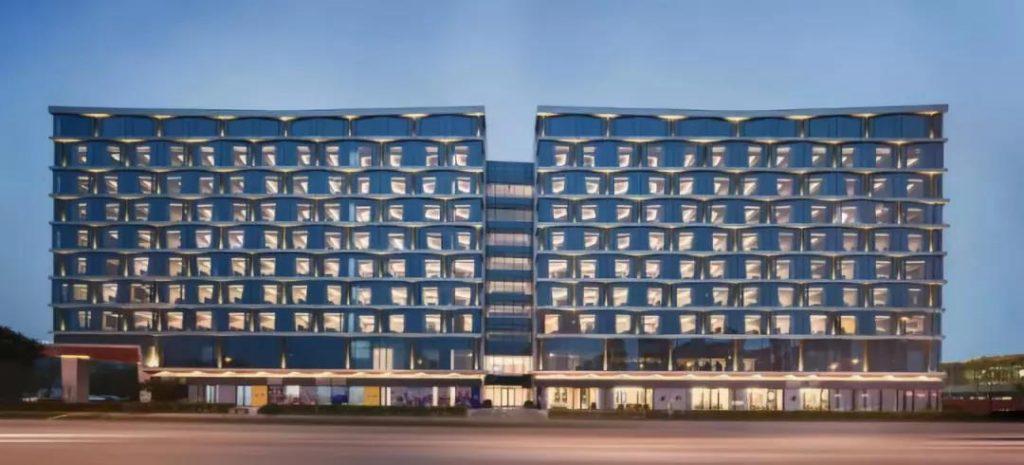 阿里巴巴 未来酒店  FlyZoo Hotel 正面图 ebzasia.com